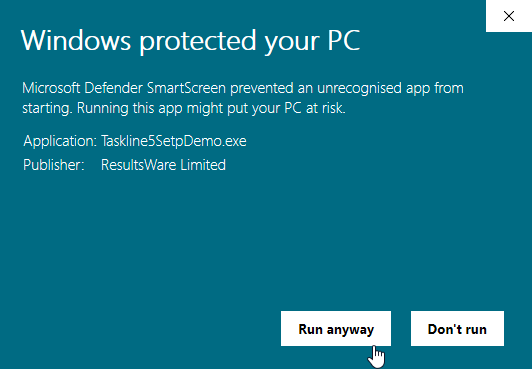 Microsoft Defender SmartScreen run anyway